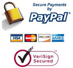 All transaction secured through PayPal and Verisign - Guaranteed!