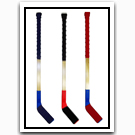 Taped Wood Hockey Sticks