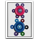 Roller Wheel Nuts Colors